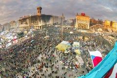 Vue des tailles au Maidan Images libres de droits