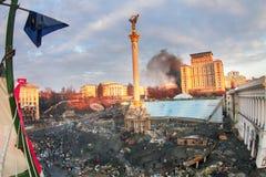 Vue des tailles au Maidan Photo libre de droits