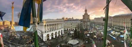 Vue des tailles au Maidan Images stock