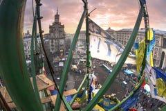 Vue des tailles au Maidan Photos stock
