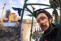 Vue des tailles au Maidan Image stock