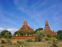 Vue des temples de Bagan, Myanmar Photographie stock libre de droits