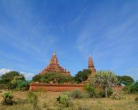 Vue des temples de Bagan, Myanmar Images stock