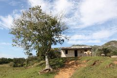 Vue des terres cultivables au Trinidad, Cuba Photo libre de droits