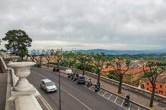 Vue des toits et des bâtiments dans la ville de Pérouse Photo libre de droits