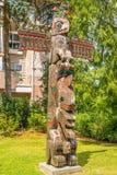 Vue des totems dans Duncan - Canada photos libres de droits