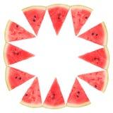 Vue des tranches de pastèque image libre de droits