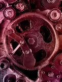 Vue des vitesses du vieux mécanisme Image libre de droits