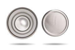Vue dessus et bas de tasse inoxydable pour votre conception Tasse en acier sur le fond blanc Grande bouteille d'eau pour garder l images stock