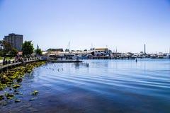 Vue dimanche de mer ensuite Image libre de droits