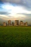 Vue dramatique de Stonehenge Image libre de droits