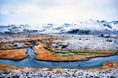 Vue dramatique du paysage islandais typique Photo stock