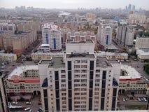 Vue du bâtiment à partir du dessus Images libres de droits