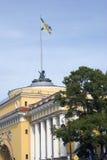 Vue du bâtiment d'Amirauté dans la ville de St Petersburg, Russie Images libres de droits
