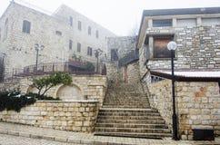 Vue du bâtiment dans vieux Safed Photo libre de droits