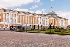 Vue du bâtiment de sénat à Moscou Kremlin images stock