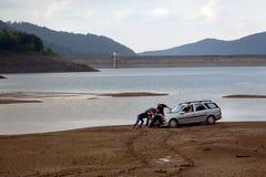 Vue du barrage de Bebresh, Sofia Province, près de Botevgrad, la Bulgarie Photographie stock libre de droits
