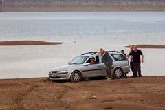 Vue du barrage de Bebresh, Sofia Province, près de Botevgrad, la Bulgarie Photo stock
