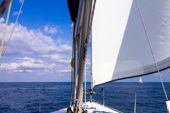Vue du bateau dans la mer, la mer Méditerranée Photographie stock libre de droits