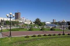 Vue du Belarus Minsk Nemiga Photographie stock libre de droits