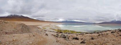 Vue du Blanca de Laguna et les crêtes des Andes photographie stock
