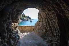 Vue vue du bord de la mer de Costa Brava Photographie stock
