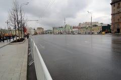 Vue du boulevard de Novinsky, rue célèbre au centre de la ville de Moscou Photographie stock libre de droits