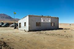 Vue du bureau de douane dans la frontière entre le Chili et la Bolivie dans le département de Potosà Photo libre de droits
