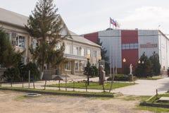 Vue du bureau principal de l'usine de fanagoria de vin, village Sennoy, Mira Street 49 Images libres de droits