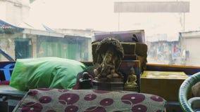 Vue du bus local au Népal, Katmandou clips vidéos