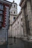 Vue du côté de la cathédrale de Valladolid photo libre de droits