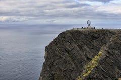 Vue du cap du nord en Norvège Image stock