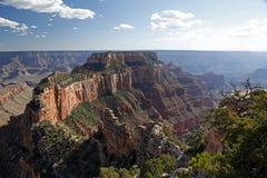 Vue du cap royal à Vishnu Temple en parc national de Grand Canyon Images stock