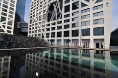 Vue du centre commercial de ville de tombolas à Chengdu Image stock