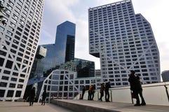 Vue du centre commercial de ville de tombolas à Chengdu Images stock