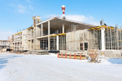 Vue du centre d'affaires étant construit Photographie stock
