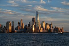 Vue du centre d'horizon de Manhattan Photo libre de droits