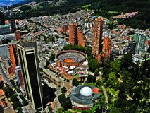 Vue du centre de Bogota, Colombie Photographie stock