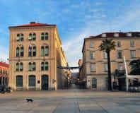 Vue du centre de la ville de la fente, Croatie Photos libres de droits