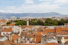Vue du centre de la ville historique de la fente, Croatie photographie stock libre de droits