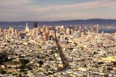 Vue du centre de San Francisco des crêtes jumelles image libre de droits