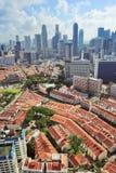 Vue du centre de Singapour Images libres de droits