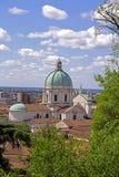 Vue du château de Brescia Image libre de droits