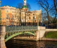 Vue du château de Mikhailovsky St Petersburg Images libres de droits