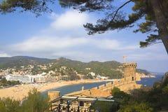 Vue du château de Tossa de Mar Photographie stock libre de droits