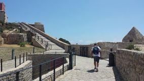 Vue du château historique d'Ibiza Espagne montrant l'architecture historique et les ruines photographie stock libre de droits
