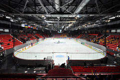 Vue du champ d'hockey Photos stock