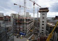 Vue du chantier de construction Photographie stock