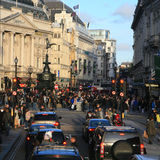 Vue du cirque de Piccadilly, 2010 Images libres de droits