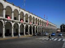 Vue du colonial du centre, Arequipa, Pérou image stock
